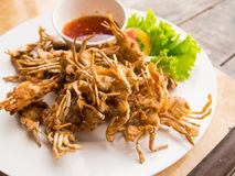 Deep fried swimming crabs Royalty Free Stock Photos