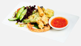 Deep fried Tempura Vegetables Royalty Free Stock Photography