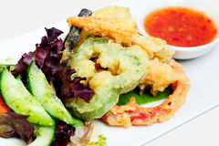 Deep fried Tempura Vegetables Royalty Free Stock Photo