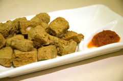 Deep-fried tofu Royalty Free Stock Photo