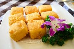 Deep fried tofu Royalty Free Stock Image
