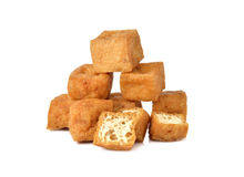 Deep fried Tofu on white Royalty Free Stock Photo