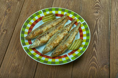 Deep-Fried Turmeric Smelts Royalty Free Stock Images