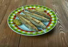 Deep-Fried Turmeric Smelts Royalty Free Stock Image