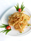 Deep fried white bait with spicy salt Royalty Free Stock Photos
