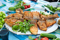 Deep fried whole fish Stock Photos