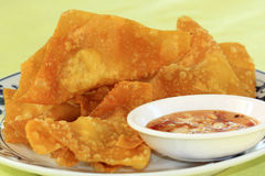 Deep Fried Wonton Stock Images