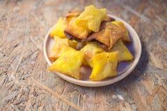 Deep fried wonton or fried dumplings cuisine Stock Photos