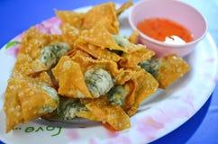 Deep Fried Wonton Fried shrimp dumplings Stock Photos