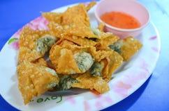 Deep Fried Wonton Fried shrimp dumplings Royalty Free Stock Photo