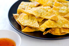 Deep fried Wonton pastry Royalty Free Stock Image