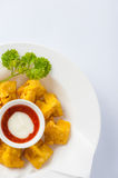 Deep fried wonton with sweet and sour sauce Royalty Free Stock Photo