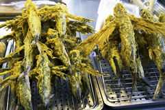 The deep fry flying fish Stock Photography