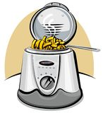 Deep fryer and chips Royalty Free Stock Image