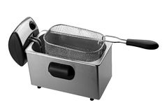 Deep fryer isolated on white Royalty Free Stock Images
