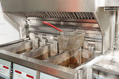 Deep fryer with oil Royalty Free Stock Image