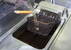 Deep fryer with old oil - very unpleasant Stock Image