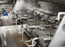 Deep fryer on restaurant kitchen Stock Photo