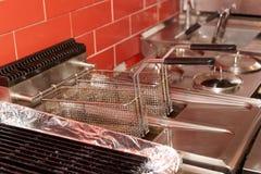 Deep fryer, restaurant kitchen Royalty Free Stock Image