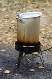 Deep Frying turkey Stock Images