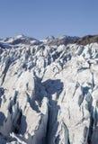 Deep Glacier Crevasses Stock Photos