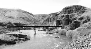 Deep Gorge Deschutes River Railroad Bridge Wild Scenic Corridor Stock Photo