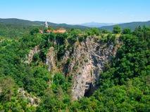 Deep gorge of Reka River at Skocjan Caves Stock Image