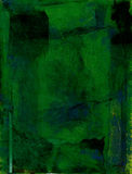 Deep Green. Mix media painting with deep green colors with bluish shadowings on a very textural surface Royalty Free Stock Images