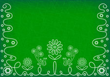 Deep green background with elements of embroidery Royalty Free Stock Photos