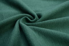 Deep green cloth made by cotton fiber Stock Images