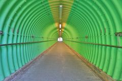deep of green color tunnel horror feel Stock Images