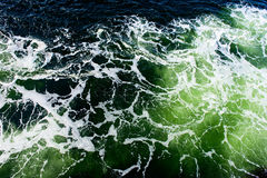 Deep green ominous ocean water background. Image Royalty Free Stock Photo