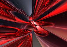 Deep groove. Abstract background render Stock Images