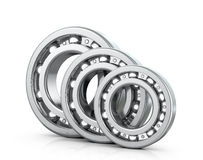 Deep groove ball bearings. Isolated white background. 3D image Royalty Free Stock Image