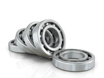 Deep groove ball bearings isolated white fonom. Stock Photo