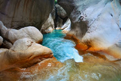 Deep Harmony Canyon in Turkey near Goynuk Royalty Free Stock Photo