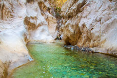Deep Harmony Canyon in Turkey. Near Goynuk and tourists Stock Photo