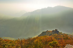 The deep hollow of autumn Zu mountain Stock Photo