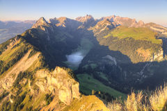 Deep isolated valley, Switzerland Royalty Free Stock Photos
