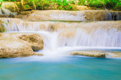 Deep jungle natural forest Waterfall in Thailand Stock Image