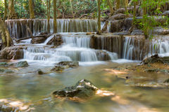 Deep jungle water falls in tropical national park Royalty Free Stock Photo