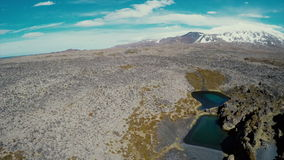 Deep Lagoons And Lava Wonderland Stock Photography