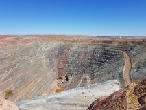 Open cut gold lithium iron ore mine Leonora Western Australia Royalty Free Stock Images