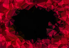 Deep love Red triangle poligon chaotic pattern wall background. 3d render illustration. With space for your text Royalty Free Stock Photo