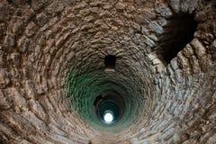 Deep medieval moorish well. In Silves, Algarve, Portugal Stock Image