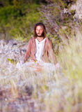 Deep meditated man portrait Royalty Free Stock Image