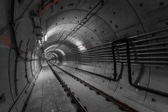 Deep metro tunnel Royalty Free Stock Image