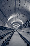Deep metro tunnel Royalty Free Stock Image