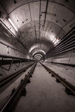 Deep metro tunnel Stock Photography