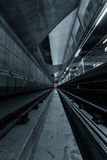 Deep metro tunnel Stock Image